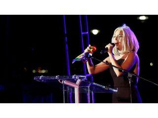 Lady Gaga chante l'hymne américain