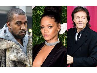Rihanna réunie avec Kanye West et Paul McCartney